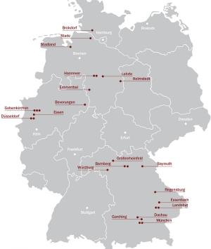 Arena One Standorte in Deutschland
